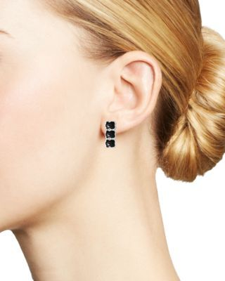 Tous Sterling Silver Onyx Stud Earrings