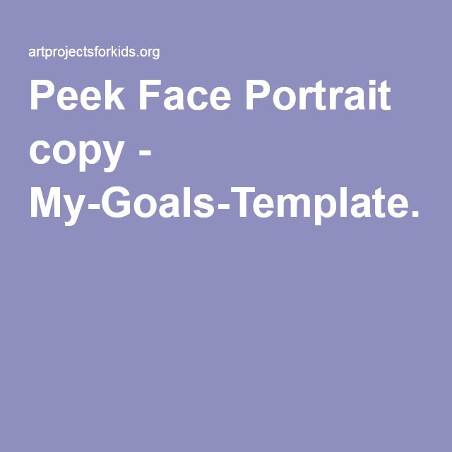 Peek Face Portrait copy - My-Goals-Template.pdf | osztály ...
