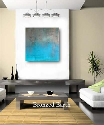 Wood Wall Art Painting Living Room Original Modern Abstract Cradled Panel