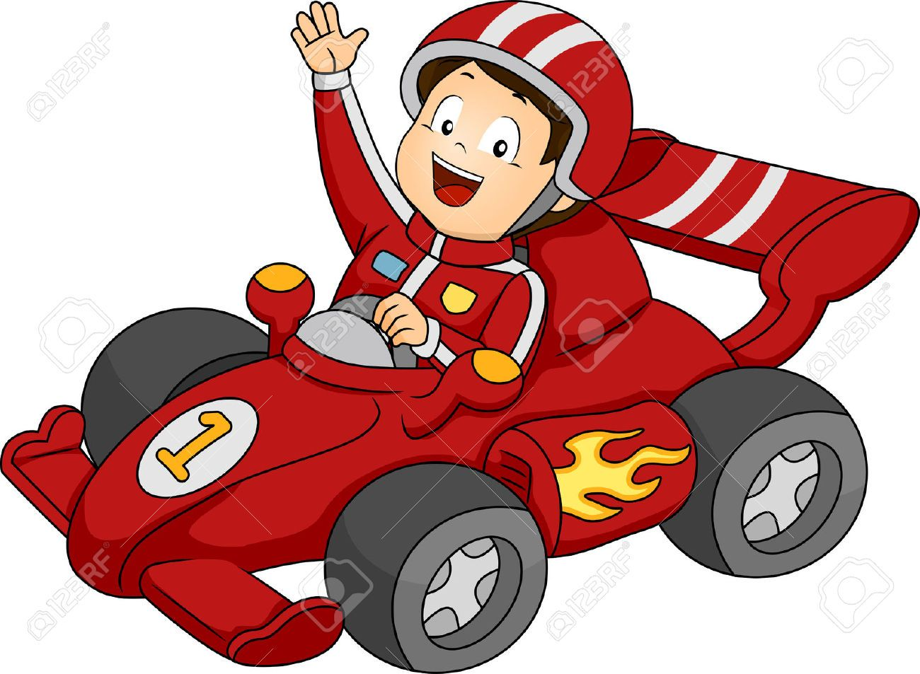 Race Car Clipart Cartoon With Images Cartoon Race Car Party