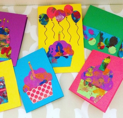 Making Cards With Toddlers With Images Birthday Card Craft