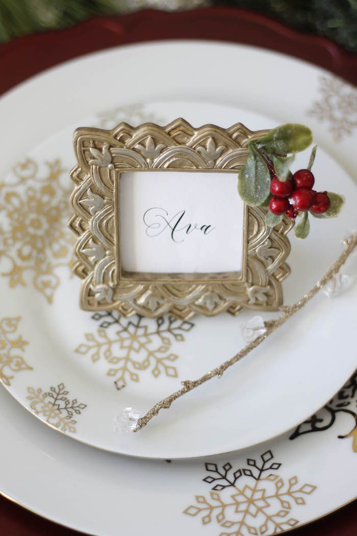 Holly Ivy Holiday Dinner Party Christmas Party Ideas Crafts