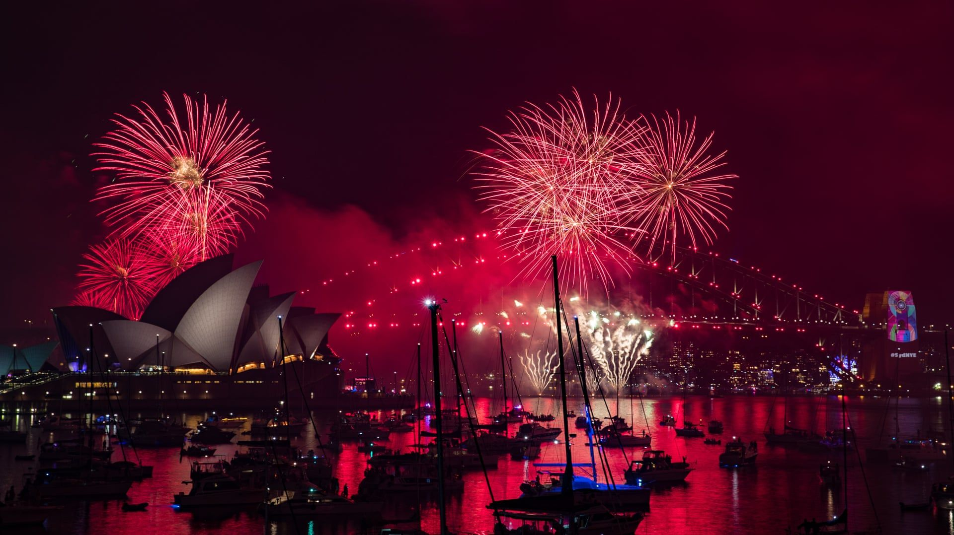 New Year's Eve around Australia fireworks ring in 2019