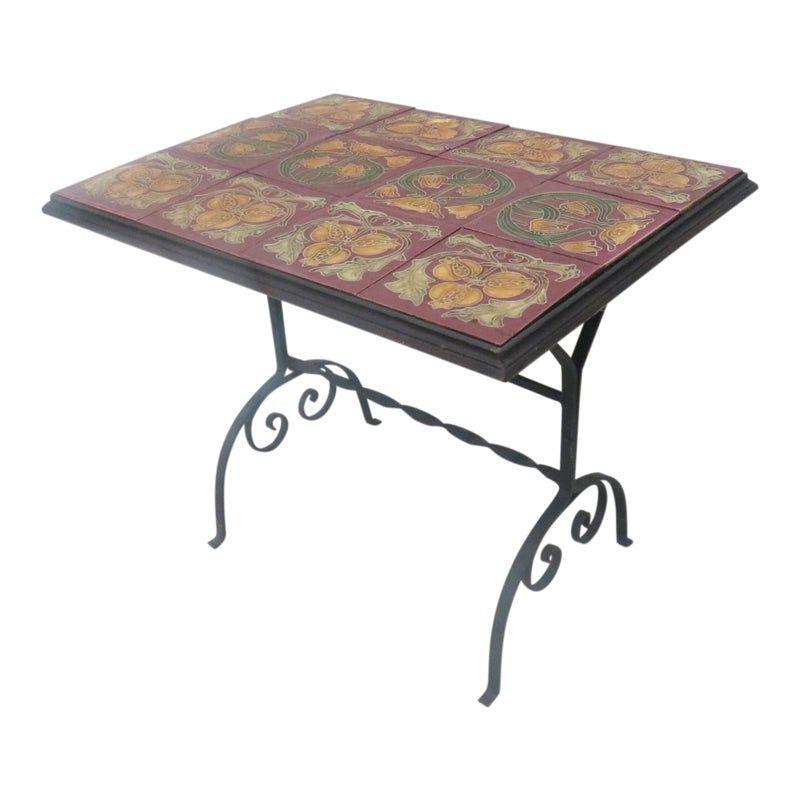 Art Nouveau Tile Top Coffee Table Art Nouveau Tiles Table Tiles