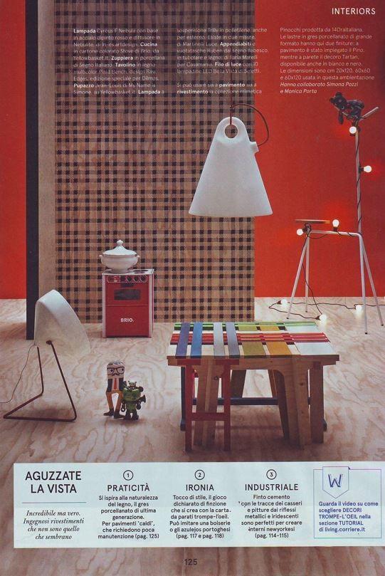"""Trilly lamp on """"Living"""" magazine _ Il Corriere della Sera"""