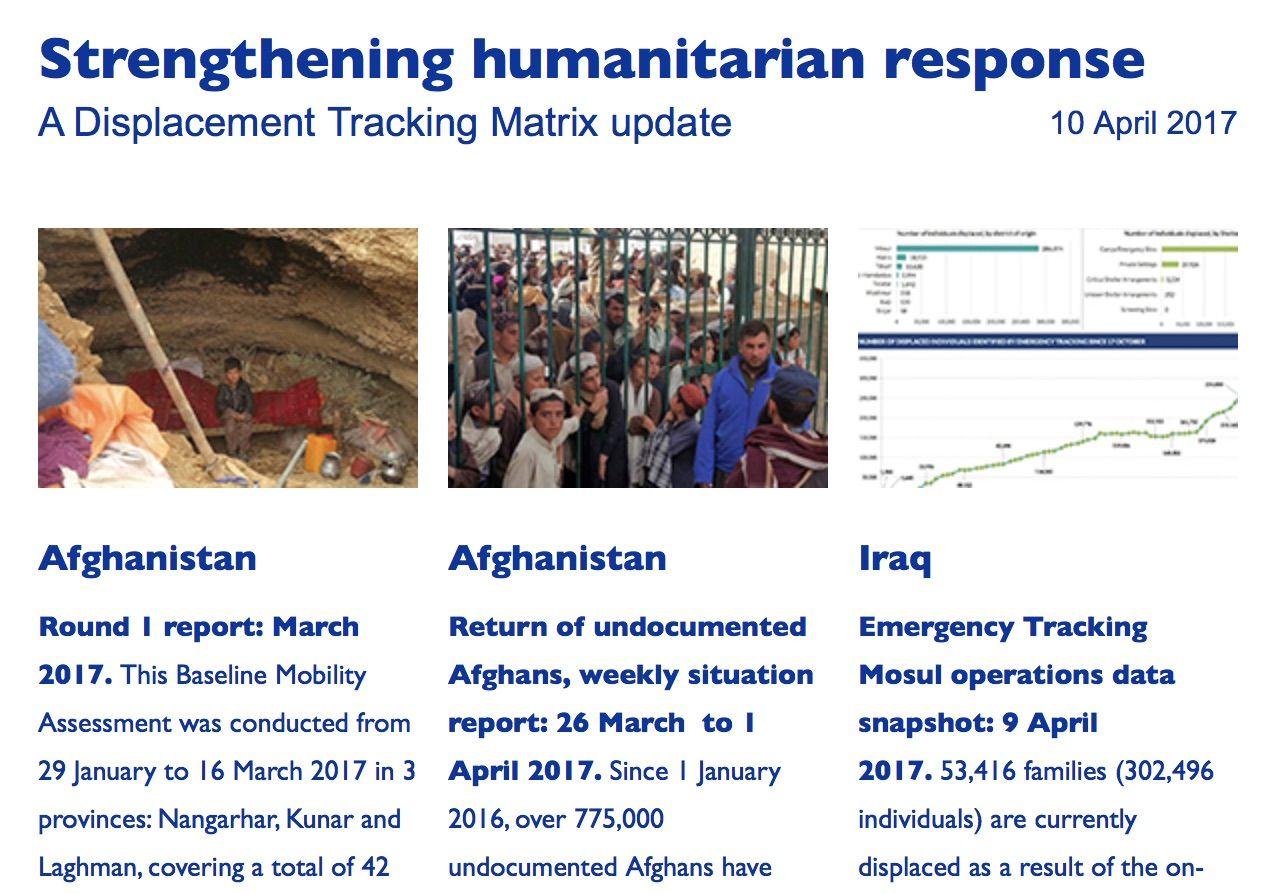 Strengthening humanitarian response: A Displacement Tracking Matrix