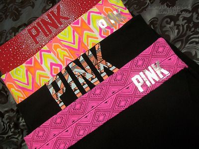 Love the prints on these VS PINK yogas