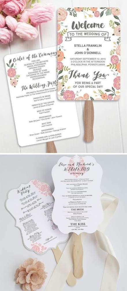 Wedding ceremony order of service fan programs 40 Ideas for 2019 Wedding ceremon Wedding ceremony order of service fan programs 40 Ideas for 2019 Wedding ceremony order o...