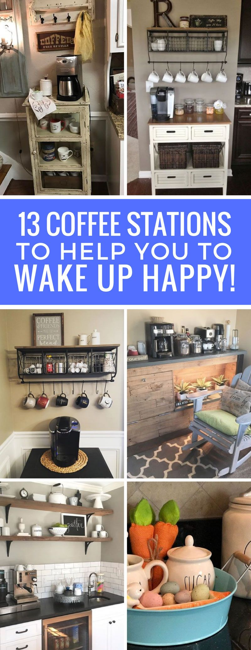 13 Home Coffee Station Ideas to Help You Wake Up in the Morning ...