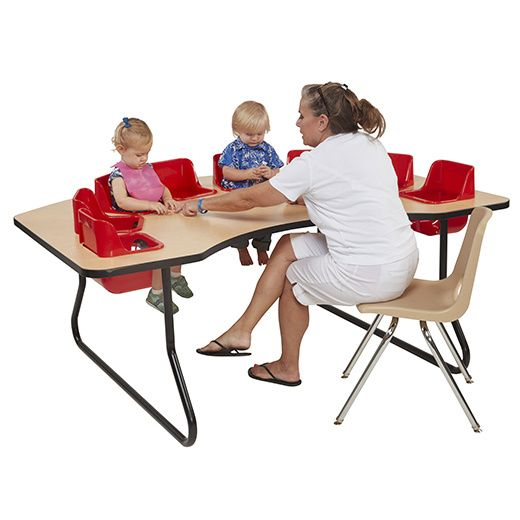 Elr Interactive Toddler Feeding Table Maple Top 8 Seat Childrens Table Toddler Table Interactive Table