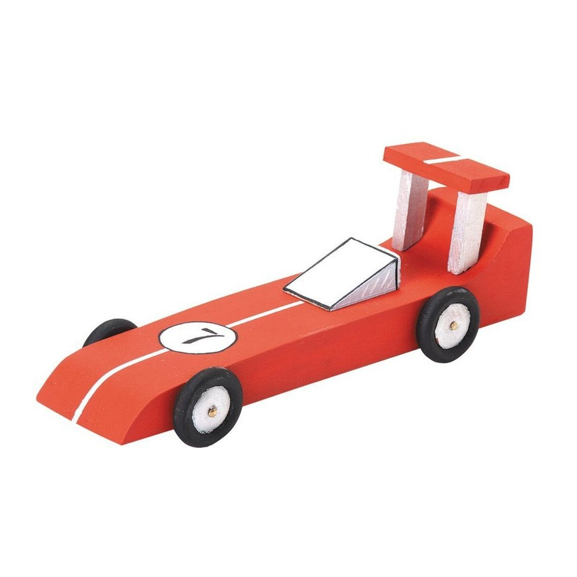 Unfinished Race Car Wood Craft Kit