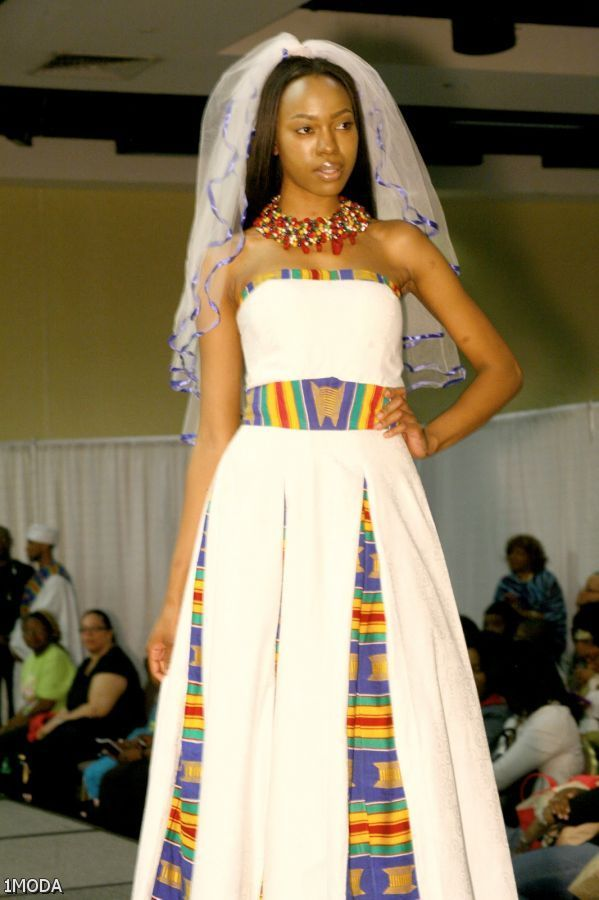 Kente traditional wedding dress african designs for Elegant african dresses for weddings