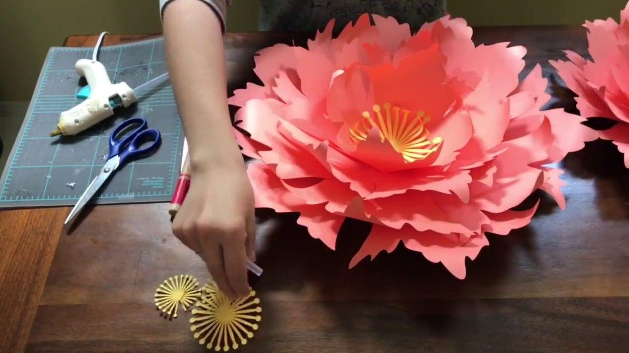 Free Paper Flower Tutorial By Seattle Giant Flowers Cornflower