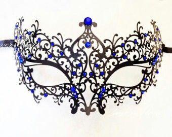Black Widow Web Eyemask Metal Filigree Masquerade Womens Fancy Dress Costume