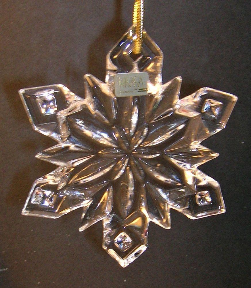 Mikasa Christmas Crystal Snowflake Ornament from the Joyous ...