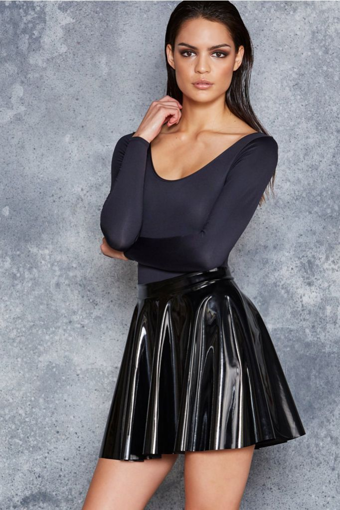 879c2af1f2 PVC Skater Skirt | Black Milk wish list in 2019 | Leather skater ...