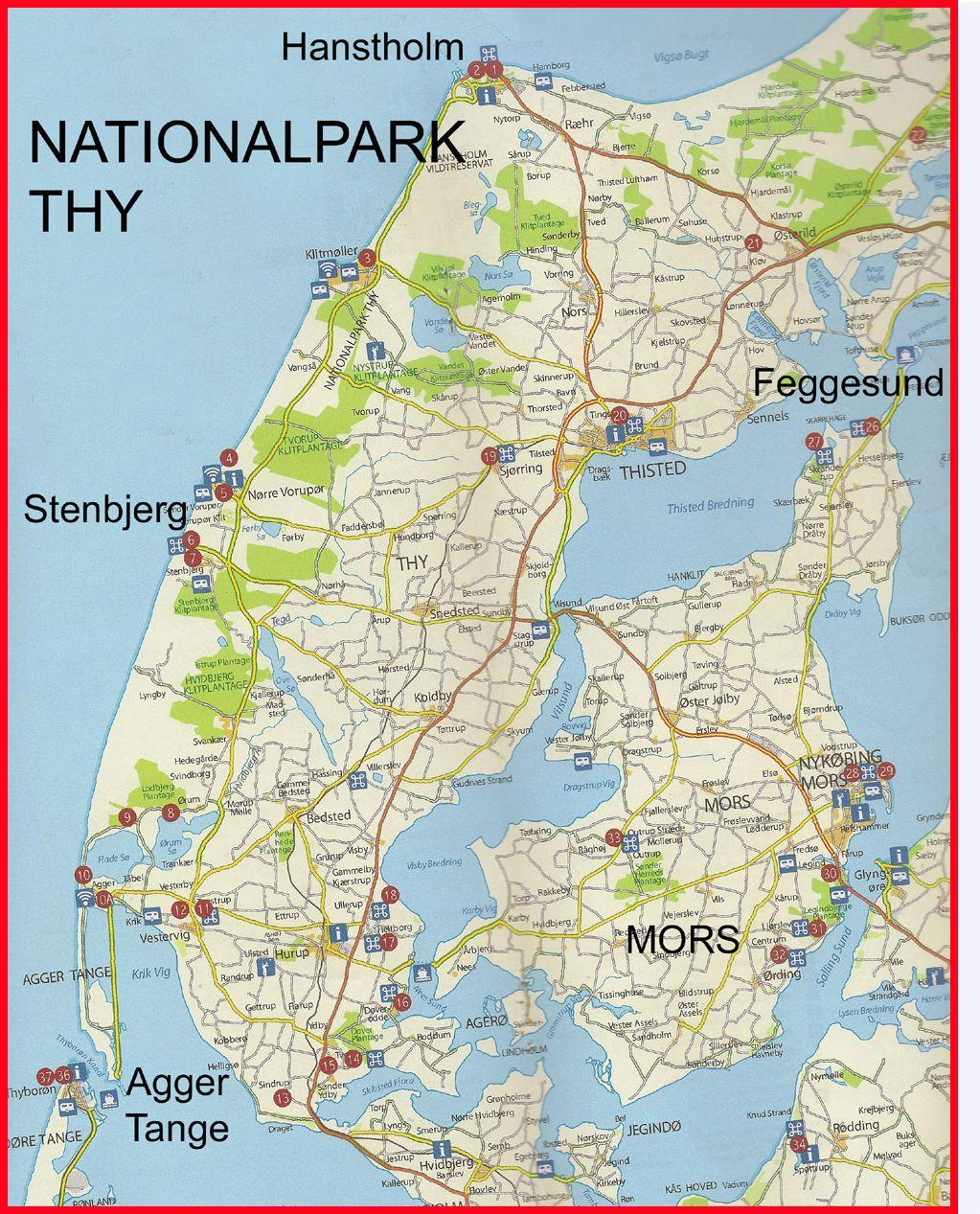 Nationalpark Thy Danmark Gamle Kort Laering
