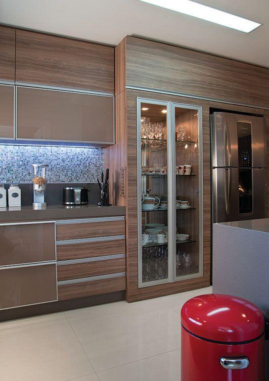 cozinha planejada marrom e bege - Pesquisa Google | cozinha ...