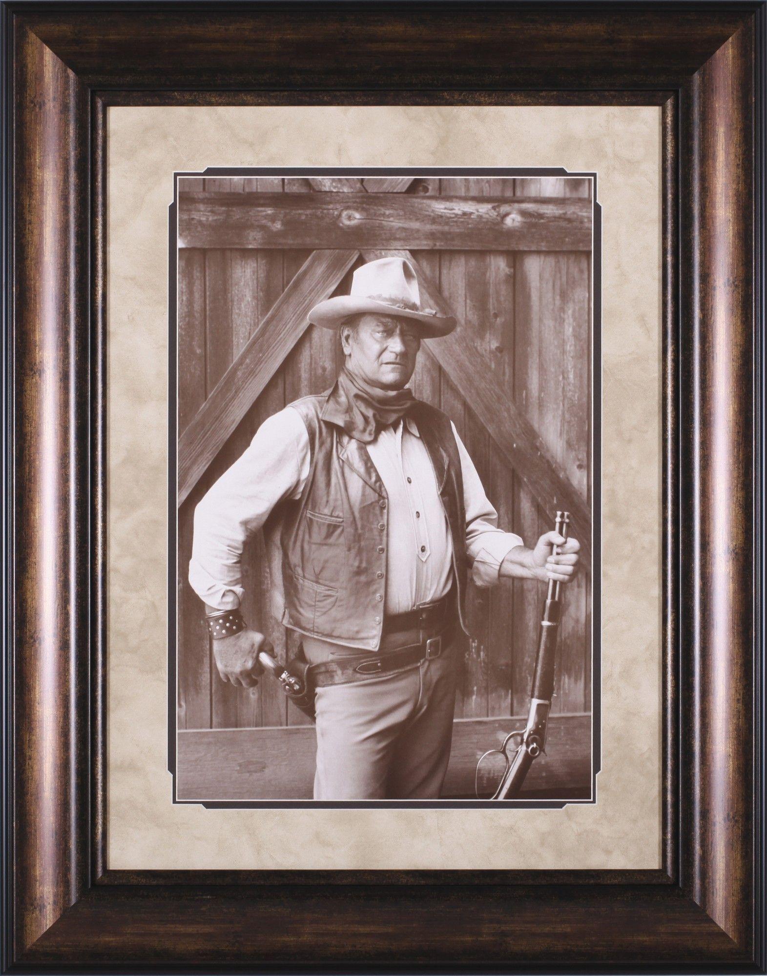 John Wayne By Bob Willoughby Framed Photographic Print Wall Art Framed Art Wall Art Prints