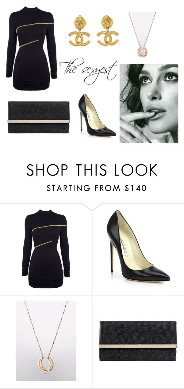 """The sexyest"" by riccardo-praga ❤ liked on Polyvore featuring Agent Provocateur, Brian Atwood, Jimmy Choo and Chanel"