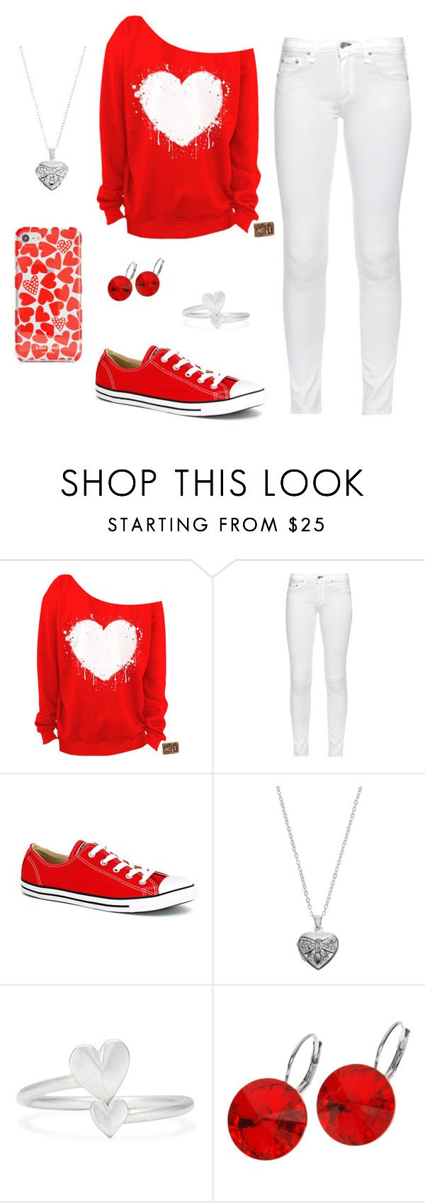 """""""Valentines Day Ready"""" by zoehahn on Polyvore featuring rag & bone, Converse, Silver Expressions by LArocks, Alex and Ani, L. Erickson and Kate Spade"""