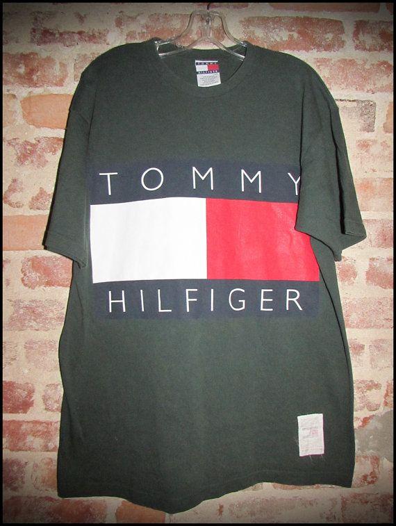 50938c5e Vintage 90's Tommy Hilfiger Original Logo Shirt by RackRaidersVintage,  $25.00