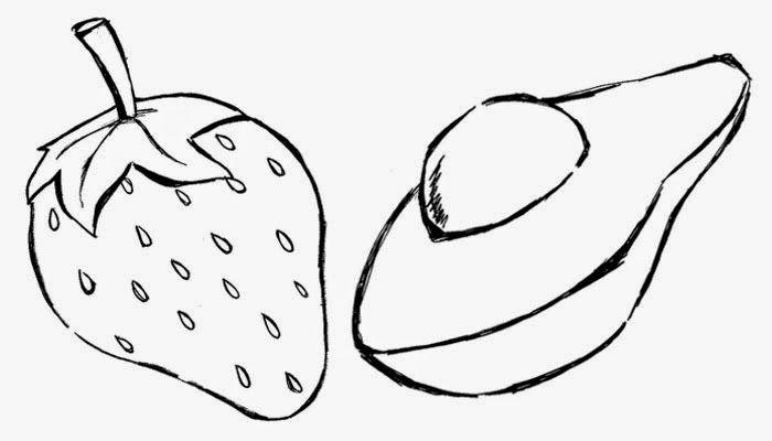 desenhos de frutas para imprimir e colorir nova moda pinterest