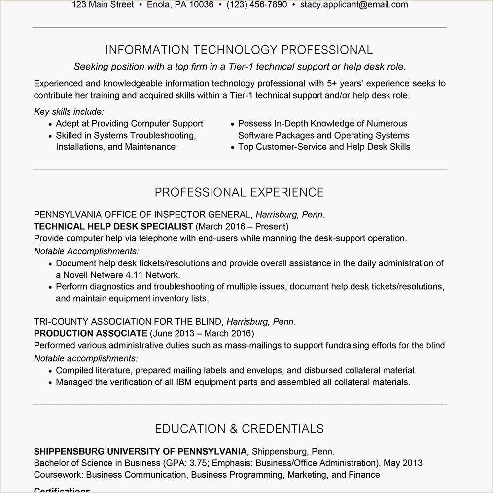 Entry Level Hvac Technician Resume in 2020 Job resume