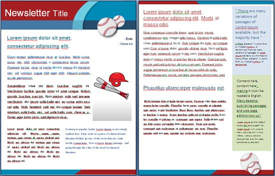 sports baseball template perfect for a school sports event i