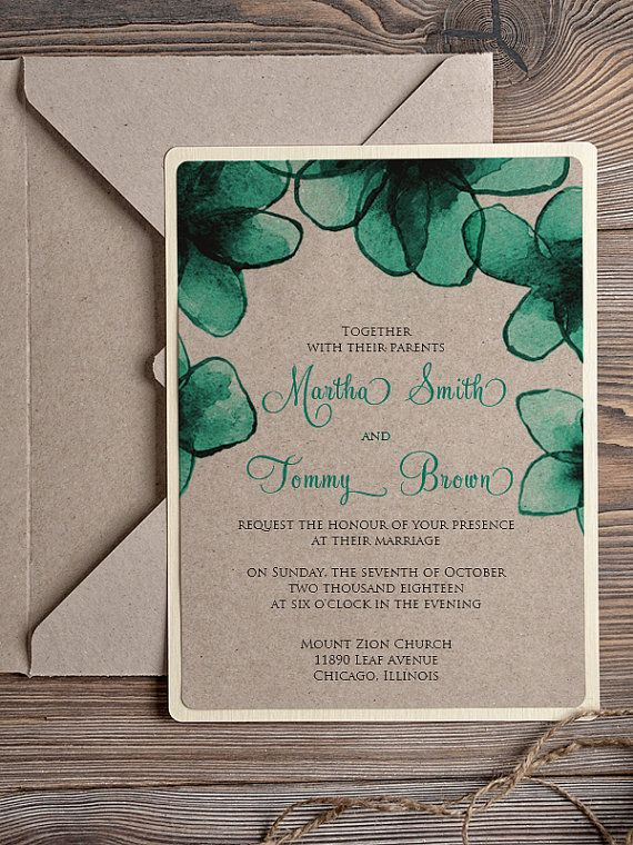 Natural recycling paper Wedding Invitation Romantic Lavender