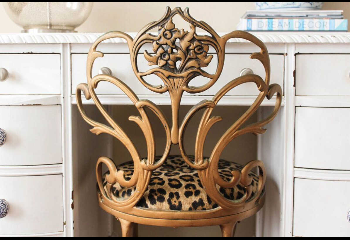 Antique Vanity Chair Swivel Parts Vanitychair