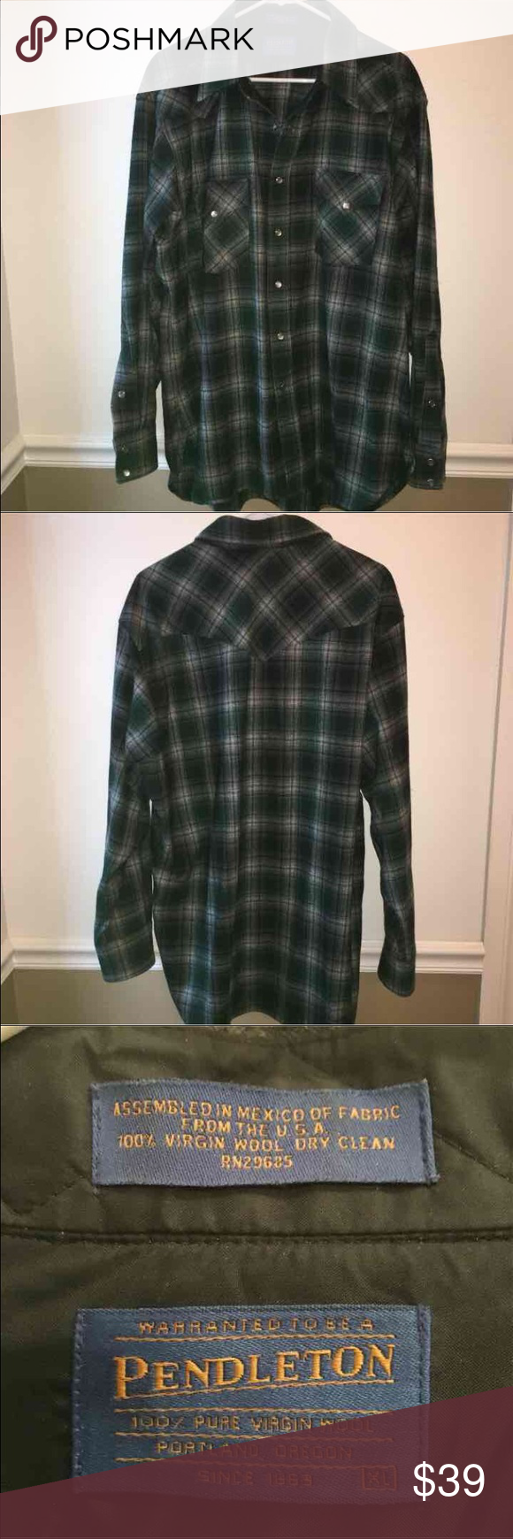 Pendleton canyon snap front shirt This shirt is in excellent used condition without holes, rips or stains. Perfect for the coming fall and winter months! Quality made through and through! Pendleton Shirts Casual Button Down Shirts
