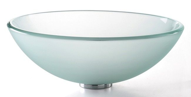 Kraus Frosted Glass Vessel Sink $100