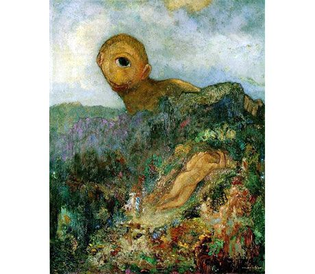 The Cyclops . Painting of 1914 by Odilon Redon . Kröller-Müller ...