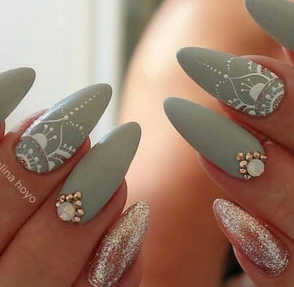 party nail art designs 2017 2018 , Be it a glitter prime coat or fiery red, party  nail art styles square measure far more than you ever thought. - Party Nail Art Designs 2017 2018 Nails Nails, Nail Art, Nail Art
