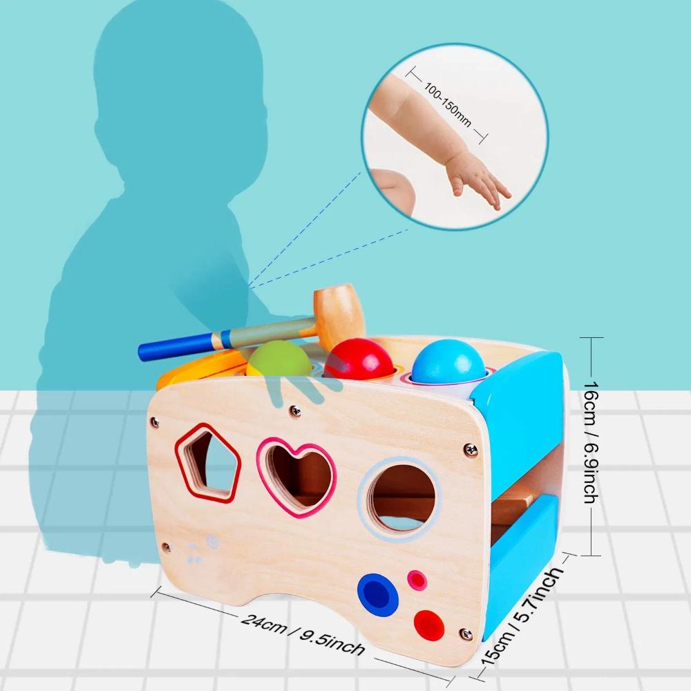 Rolimate Xylophon Und Hammerspiel Spielzeug Ab 1 Jahr 3 In 1 Montessori Padagogisches Vorschullernen Musikspielzeu In 2020 Spielzeug Ab 1 Jahr Holzspielzeug Spielzeug
