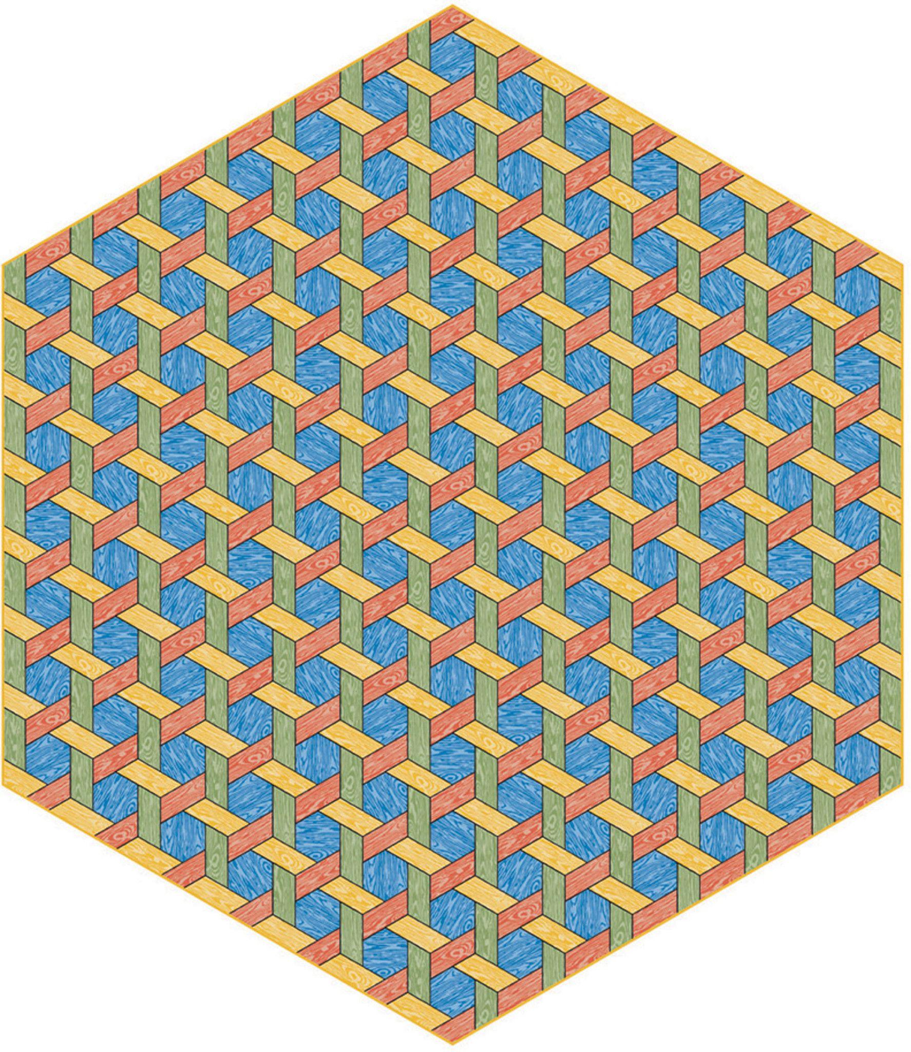 Hexagon Multi Wooden pattern, Carpet, Flooring near me