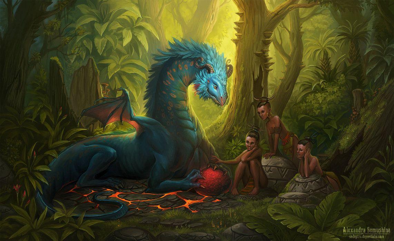 драконы сказочные волшебные картинки срезать валявшихся