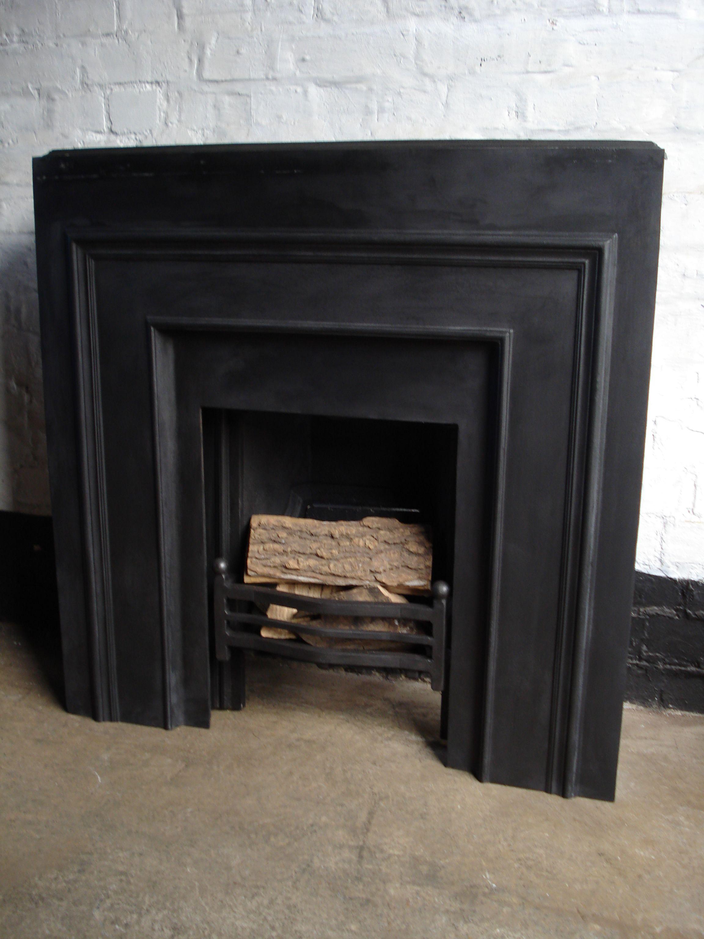 Cast Iron Fire Insert Back Panel Original Fires Fireplace Granite Hearth Oak Fire Surround