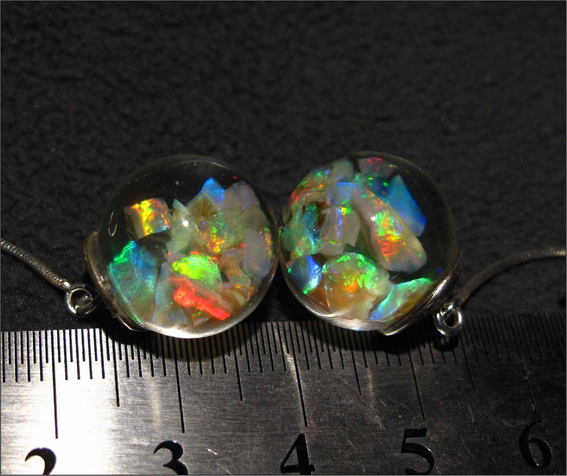 8d333b95e41c7 Floating Opal Drop Earrings featuring gorgeous bright Lightning ...