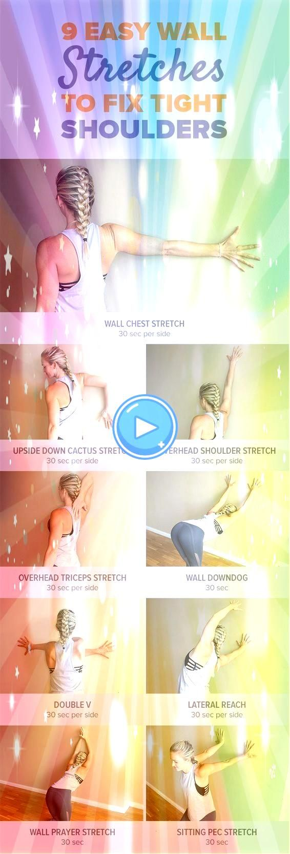 Effective And Easy Wall Stretches to Fix Tight Shoulders  Health and Fitnes  Workout 9 Effective And Easy Wall Stretches to Fix Tight Shoulders  Health and Fitnes  Workou...
