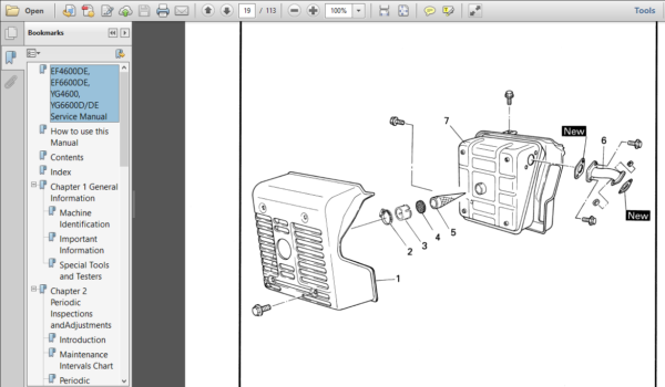 Yamaha Generator Service Manual Ef4600de Pdf Download Manual Yamaha Dealer Repair Manuals
