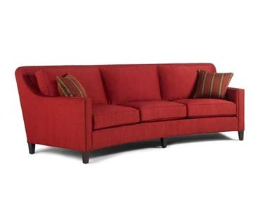 Miles Talbott Living Room Cayman Curved Sofa BH 8055 S   Douds Furniture
