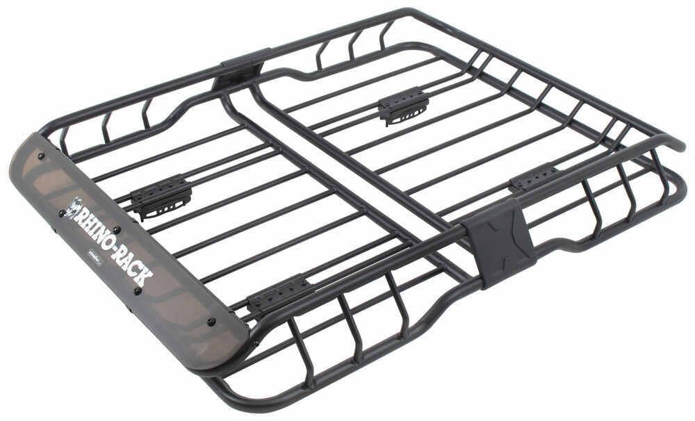 "RhinoRack Roof Mounted Steel Cargo Basket 47"" Long x 35"