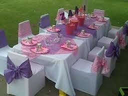 Kiddies Chair Covers For Hire Bassett Furniture Chairs Themed Table And Busy Bee Party Planners 082 Plastic Kids Tables