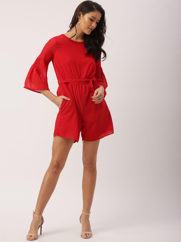 Deepika Padukone Red Polyester Playsuit #Palysuit #Red # ...
