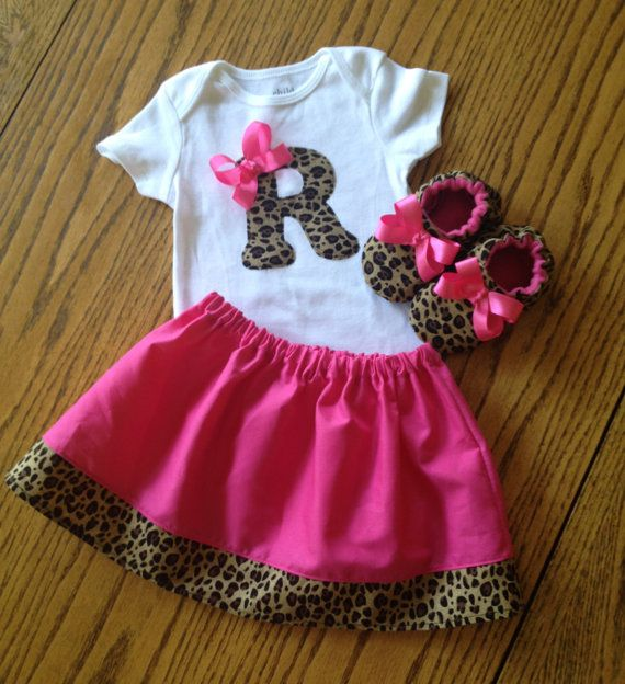 Girls Skirt Shirt and Shoe set Leopard by SweetpeasBumblebees ... 872c9193f