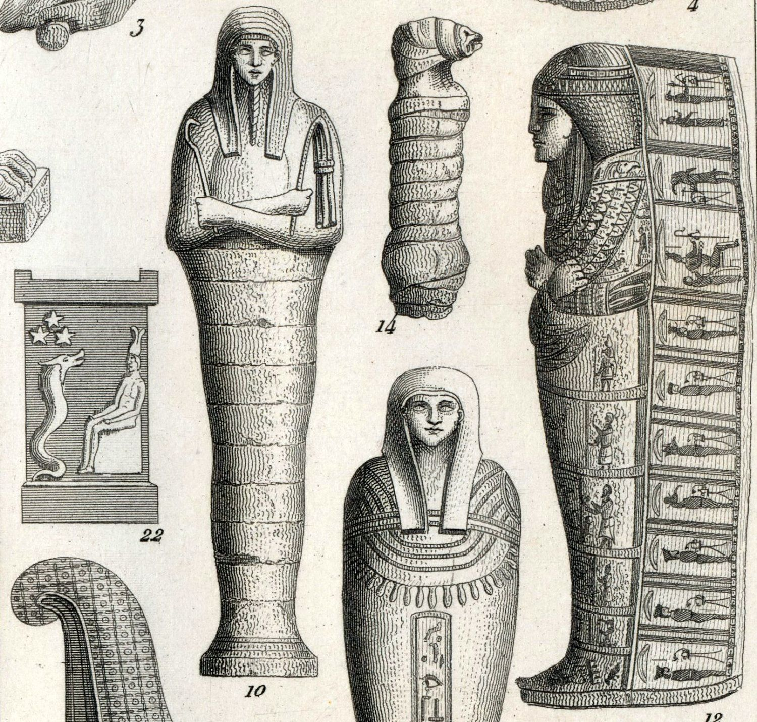 Antique Print Of Ancient Egypt
