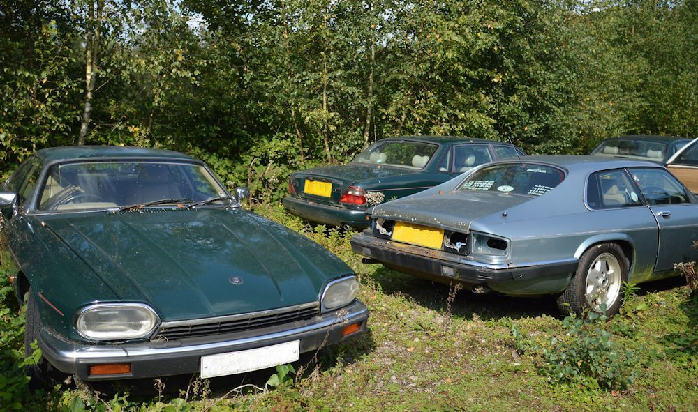 Jaguar motor car scrapyard scrap yard mainly abandoned derelict ...