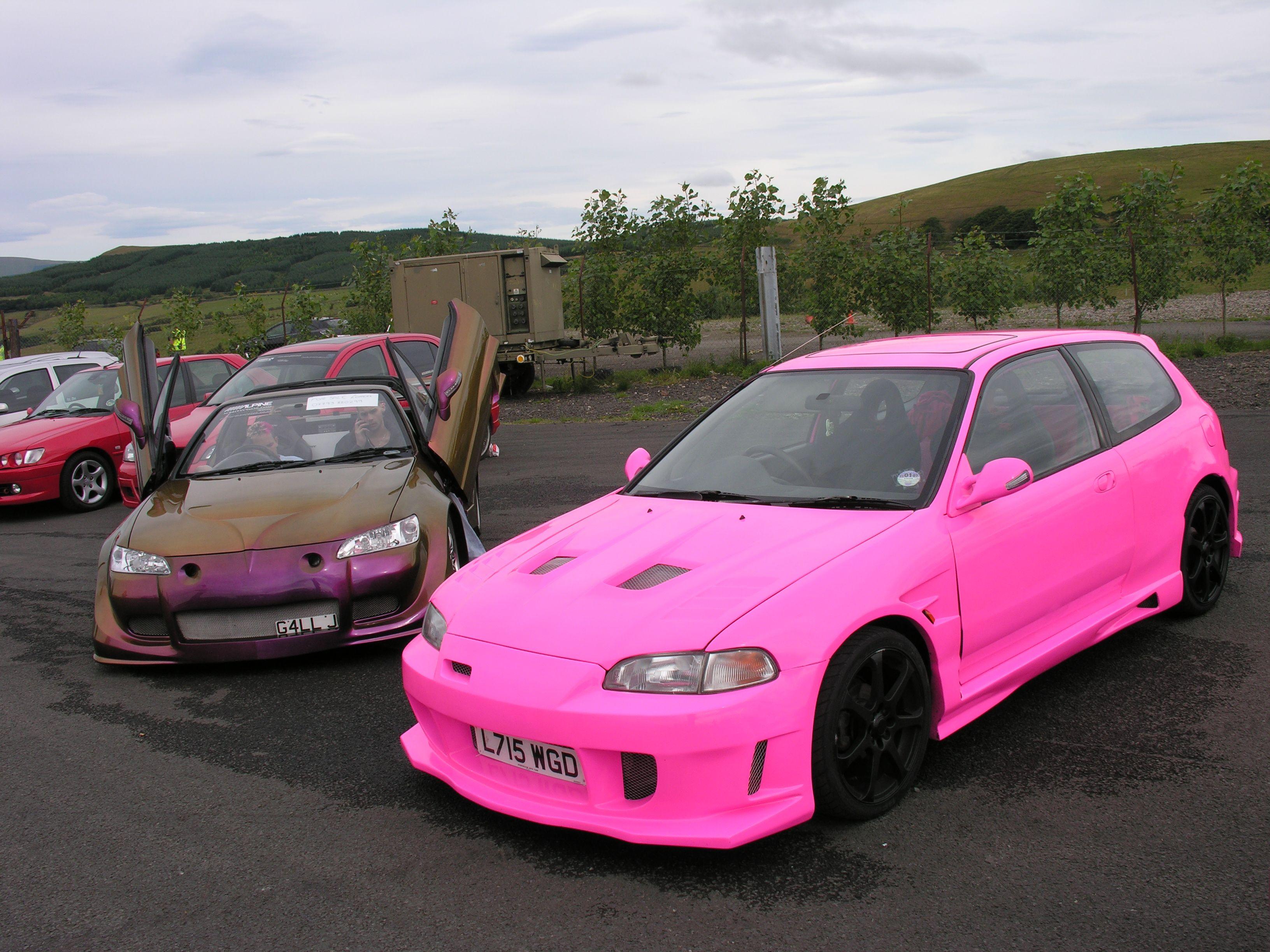 Pink Honda By Shawn Rodrigo Honda Civic Hatch Honda Civic Honda Crx